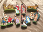 Nativity Italy Paper Mache Plaster Composite Hand Painted 12 Pc Fontanini