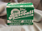 1991 Topps Traded Complete Set 1t-132t Bagwell Rodriguez Rookie RC