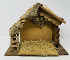 Vintage Nativity Creche Stable Wood Wooden Manger Christmas Decor Made in Italy
