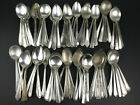 100 x SCRAP CRAFT Silverplate Soup Spoons TRASHED Vintage Flatware