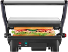 Electric Panini Press Grill Gourmet Sandwich Maker With Non Stick Coated Plates
