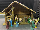 Vintage Christmas Nativity Set Italy Woolworth Rare Nice Condition