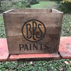 ANTIQUE VINTAGE WOODEN BPS PAINTS CRATE ADVERTISING SHIPPING BOX 15 x 12 x 11