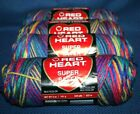 Lot of 4 Red Heart Super Saver Variegated Yarn  Starbrights  244 Yards Each