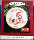 1996 Hallmark Keepsake Ornament Holiday Wishes 101 Dalmatians Collector's Plate