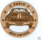 AMC AMX Wood Ornament Laser Engraved
