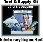 Complete Tool Supply setup for Paper Tole 3d Art  Card Making quality 13 Items