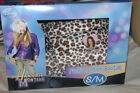 Disney Hannah Montana Leopard Slippers Booties S M NEW