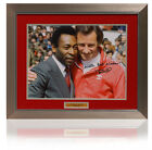 Large TERRY NEILL Hand Signed ARSENAL PELE Presentation