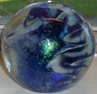 Art Glass Dichroic Fused Art Glass Signed Paperweight - Robert Eickholt 1980