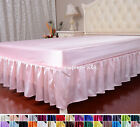1 PC 16MM 100% SILK SATIN BED SKIRT DUST RUFFLE FULL QUEEN KING SIZE