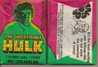INCREDIBLE HULK UNOPENED CARDS PACK FROM BOX 1979 TOPPS