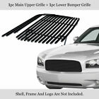 Fits 2005-2010 Dodge Charger Black Billet Grille Combo Insert
