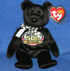 TY STORE RACING GOLD BLACK NASCAR BEANIE BABY - MINT TAGS