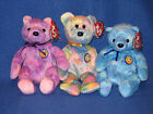 TY CLUBBY VI SET of 3 BEANIE BABIES - MINT with MINT TAG