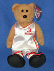 TY SHAQ the BEAR BEANIE BABY - 'KNOWLEDGE - BEST GIFT' - MINT with MINT TAG