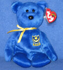 TY POMPEY the BEAR BEANIE BABY - TY EUROPE EXCLUSIVE