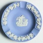 Wedgwood Jasperware Ashtray Cream on Lavender Grapevine CUPID Round 1950s
