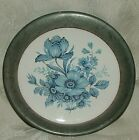 PEWTER by KENT No Easton Mass Small Round Dish lined with Blue & White Porcelain