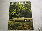 1968 ORIGINAL VINTAGE AUTO CAR SALES BROCHURE CHEVROLET IMPALA