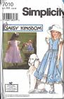 UNCUT Simplicity Vintage Sewing Pattern Girls Daisy Kingdom Dress Pinafore 7010