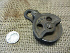 Vintage Cast Iron Pulley > Antique Old Farm Wheel Barn Shabby Garden 7484