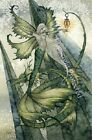 Amy Brown Print Fairy Faery Mermaid Wings SEA SPRITE Dragon Green Lantern 8.5x11