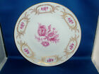 Richard Ginori Italy Rose & Gilt Porcelain Dinner Plate Giardino White Gold