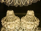 VINTAGE ANCHOR HOCKING~SET OF 2~BERWICK BUBBLE BOOPIE~SOLID GLASS CANDLE HOLDERS