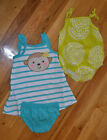 NIP Carters Just One You Monkey Dress Bloomers  Bubble Bodysuit NB 3 6 9 Mos