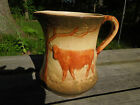 Pre 1916 Early Roseville Pottery Cow with Trees Pitcher