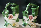 Pair of Vintage Royal Sealy Basket Vases- Japan