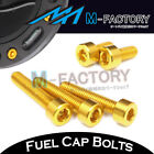 Gold CNC Billet Fuel Cap Bolts Ducati Monster 600 750 800 900 1000 IE