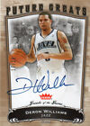 2005-06 GREATS OF THE GAME DERON WILLIAMS AUTO RC GOLD 25 RARE
