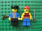 Lego PIRATE minifigure Lot of 2 with Gun and Cutlass 6286 6263 6276