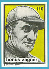 1984-1991 O'Connell & Son Ink Mini Print #110 Honus Wagner (Pirates)