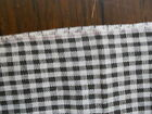 ANTIQUE PRIMITIVE BLACK AND WHITE TINY CHECK FABRIC - 59