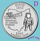 2002-D OHIO STATE (OH) QUARTER UNCIRCULATED FROM MINT ROLL