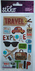 HAPPY TRAVELING Sticko EK Success Stickers ROAD TRIP Driving Vacation Travel