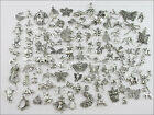 100Pcs Mixed Antiqued Silver Tone Animals Charms Pendants Jewelry Craft DIY F178