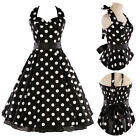 GRACE KARIN Polka dot Swing 1950s 50s pinup Dress Vintage Evening Prom Dress