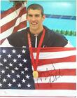 MICHAEL PHELPS Signed 11x14 Olympic Gold Medalist Bejing Photo JSA