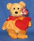 TY GOODHEART the BEAR BEANIE BABY - MINT with MINT TAGS