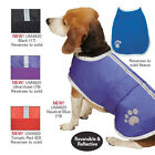 Noreaster Warm Reversible Poly Fleece Reflective Dog Blanket Coat Rain Jacket