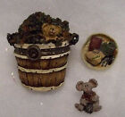 BOYDS BEAR TREASURE BOX DEVON'S PILE OF LEAVES   #392106   RETIRED NWT!!