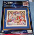 Bucilla NATIVITY Stamped Cross Stitch Christmas Pillow or Picture Kit L Gillum