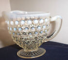 PATTERN MOONSTONE CLEAR OPALESCENT BY ANCHOR HOCKING 3 1/2