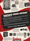 Seeburg Symphonola 1-47 phonograph/Wall Boxes 1947 Ad- complete sound