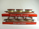Fritz & Floyd/Rise & Shine/ 4 Piece Serving Set/3 Bowls & 1 Tray/New in Box!