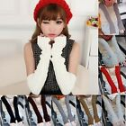 NEW SOFT KNITTED WINTER LONG FINGERLESS GLOVES ARM WARMERS FOR LADIES SLEEVES